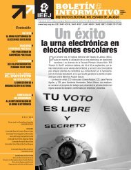 la urna electrónica en elecciones escolares - Instituto Electoral y de ...