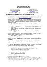 Základní povinnosti posluchače při pedagogické praxi ve 3. roč.