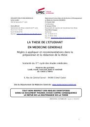 GUIDE DE REDACTION DE LA THESE EN MEDECINE GENERALE