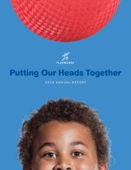 Putting Our Heads Together - Playworks