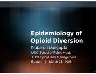 Epidemiology of Opioid Diversion
