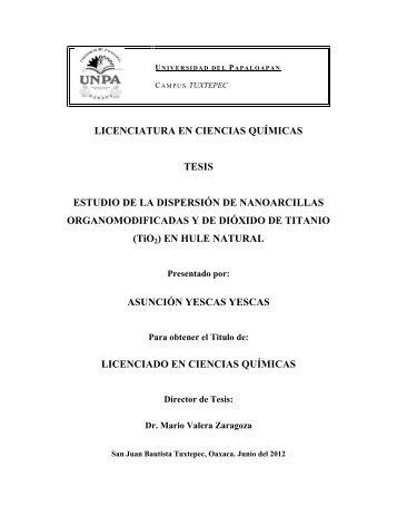 LICENCIATURA EN CIENCIAS QUÍMICAS TESIS ESTUDIO ... - UNPA