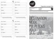 DESTINATION NEIGE POUR TOUS 2013 - MQEV