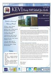 Newsletter – December 2012 - King Edward VI Camp Hill School for ...