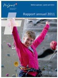 Rapport annuel 2011 - PLUSPORT Behindertensport Schweiz