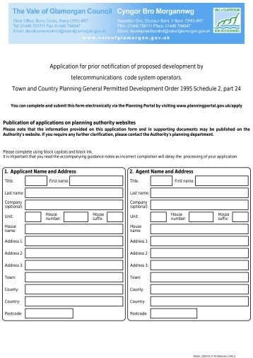 Application for prior notification of proposed ... - Planning Portal