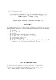 Emotional Face Processing and Emotion Regulation in Children: An ...