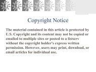 Copyright Notice - Enterprising Rural Families