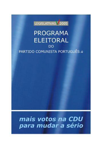 PROGRAMA ELEITORAL PCP-2005 - Público