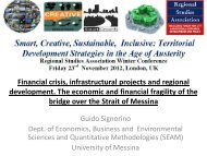Financial crisis, infrastructural projects and regional development ...