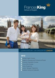 Brochure - Learn English with Frances King School of English in ...