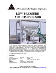 low pressure air compressor - CCC (Underwater Engineering)