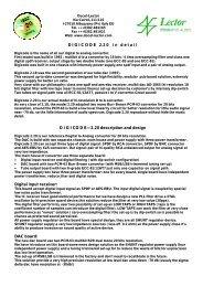 Digicode in detail (pdf document) - Lector-audio.com