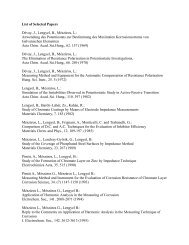 List of Selected Papers