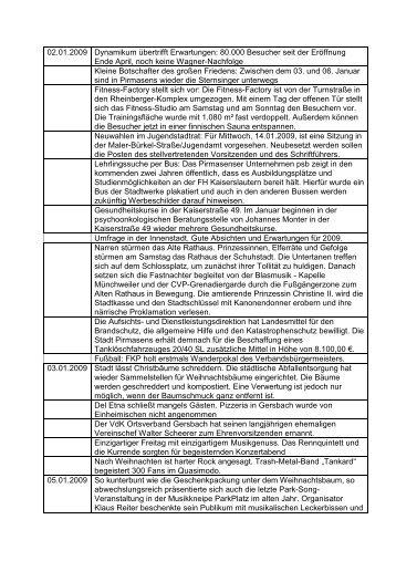 02.01.2009 Dynamikum übertrifft Erwartungen ... - Stadt Pirmasens
