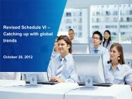 Revised Schedule VI – Catching up with global trends