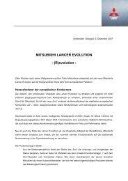 MITSUBISHI LANCER EVOLUTION - MITSUBISHI MOTORS ...