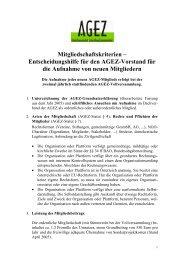 Mitgliedschaftskriterien – Entscheidungshilfe für den ... - OneWorld