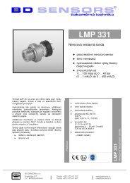 BD Sensors LMP 331 – katalogový list /cz - Marcomplet