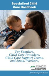 Specialized Child Care Handbook - Department for Children and ...