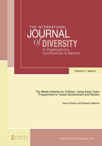 International Journal of Diversity in Organisations ... - Early Years