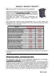 Amtliche Mitteilung - November (115 KB) - Molln