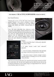 new product ms active subwoofer announcement - AVEX