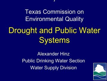 Hinz: Drought and Public Water Systems
