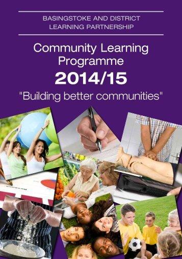 Community Learning Programme 2014-15