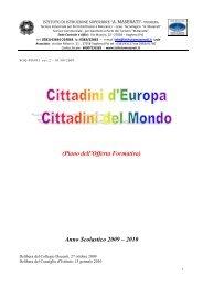 Anno Scolastico 2009 – 2010 - Istituto Istruzione Superiore Maserati