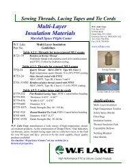 data_thread_Multi-Layer Insulation ... - WF Lake Corp.