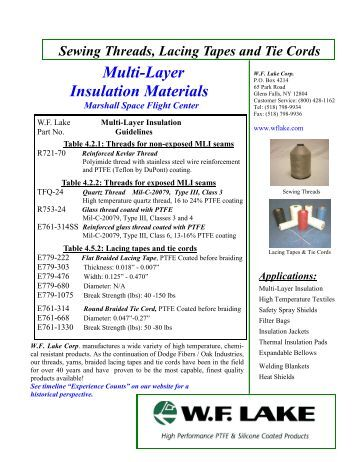 data_thread_Multi-Layer Insulation ... - WF Lake Corp.