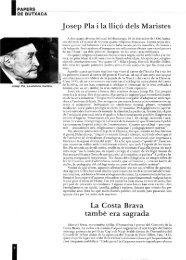 Josep Pía i la Higo deis Maristes La Costa ... - Revista de Girona