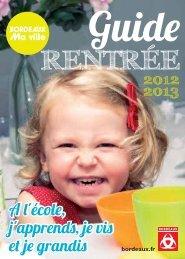 Guide Rentrée 2012/2013 - Bordeaux