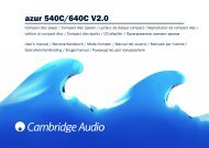 AP183772 azur 540C.640C V2.0 Multilingual ... - Cambridge Audio