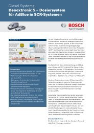 Denoxtronic 5 - Bosch Automotive Technology