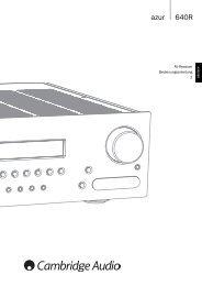 Cambridge Audio Azur 640R - taurus high-end gmbh