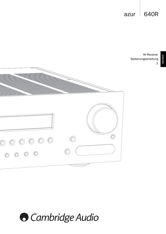 Cambridge Audio Id100 Manual
