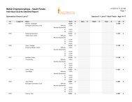 2012-2013 Women's Artistic Ontario Championships Event Finals ...