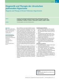 Diagnostik und Therapie der chronischen pulmonalen Hypertonie