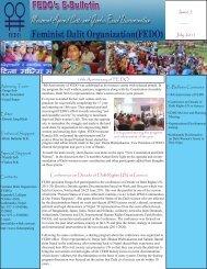 FEDO's July 2011 E-Bulletin - International Dalit Solidarity Network