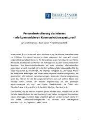 Personalrekrutierung via Internet – wie kommunizieren - polisphere