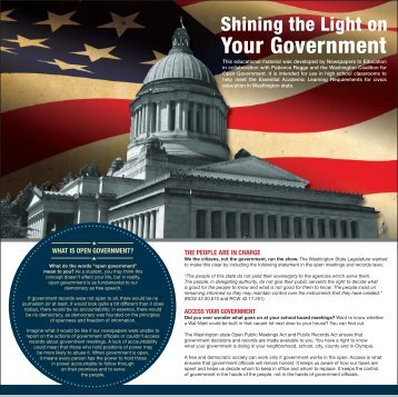 Shining the Light on Your Government Special Section ... - NWsource