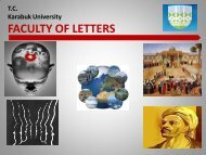 Introductory Slide - Fen Edebiyat Fakültesi - Karabük Üniversitesi