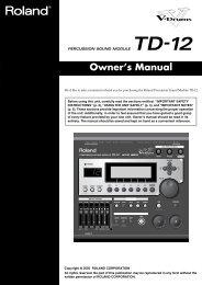 Owner's Manual - La Toile des batteurs