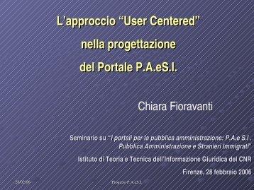 User Centered - Istituto di Teoria e Tecniche dell'Informazione ...