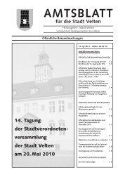versammlung der Stadt Velten am 20.Mai 2010 AMTSBLATT für die ...