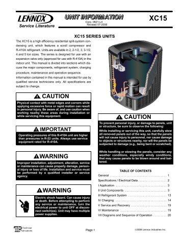 Lennox g14 installation Manual on