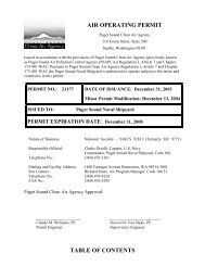 AIR OPERATING PERMIT TABLE OF CONTENTS - Puget Sound ...