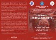 pacientul coronarian critic - Societatea Romana de Cardiologie